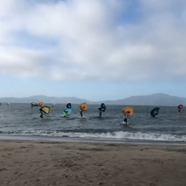 It's getting big in California!#wingsurf #wingfoil #wingfoiling #winging #wingsurfer #wingsurfen #windy #foiling #california #goldengatebridge